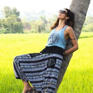 Yoga Kleidung: sommerhosen damen Haremshose oder Goa Hose