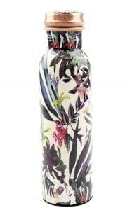 Kupfer Trinkflasche Floral White