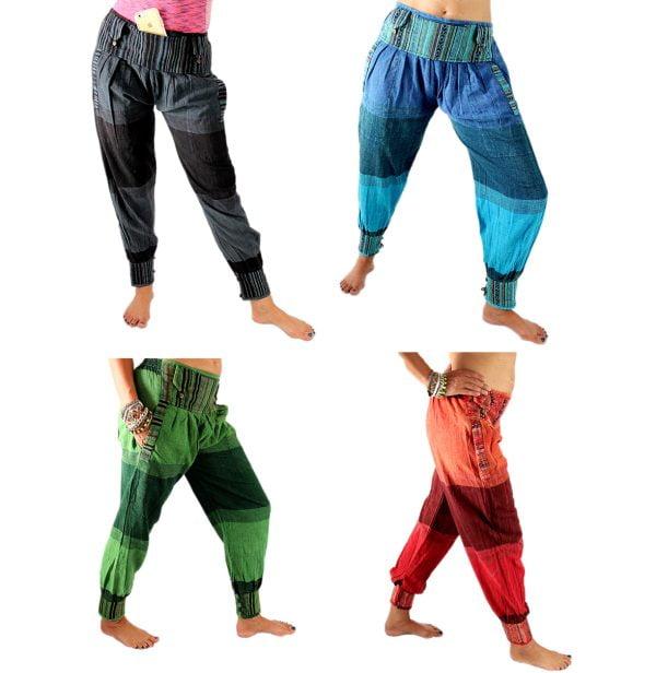 Yoga Kleidung: Leinenhose Rajasthani Hippie oder Goa Hose