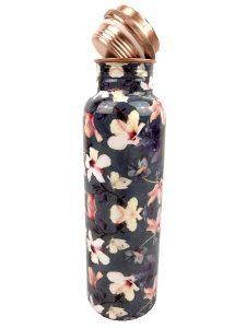 Kupfer Trinkflasche Flower Gray